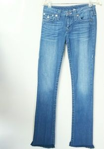 True Religion Straight Blue Jeans with Pocket Flap